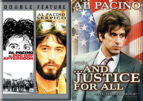 Al Pacino Movie Set And Justice for All + Serpico & Dog Day Afternoon Drama Bundle