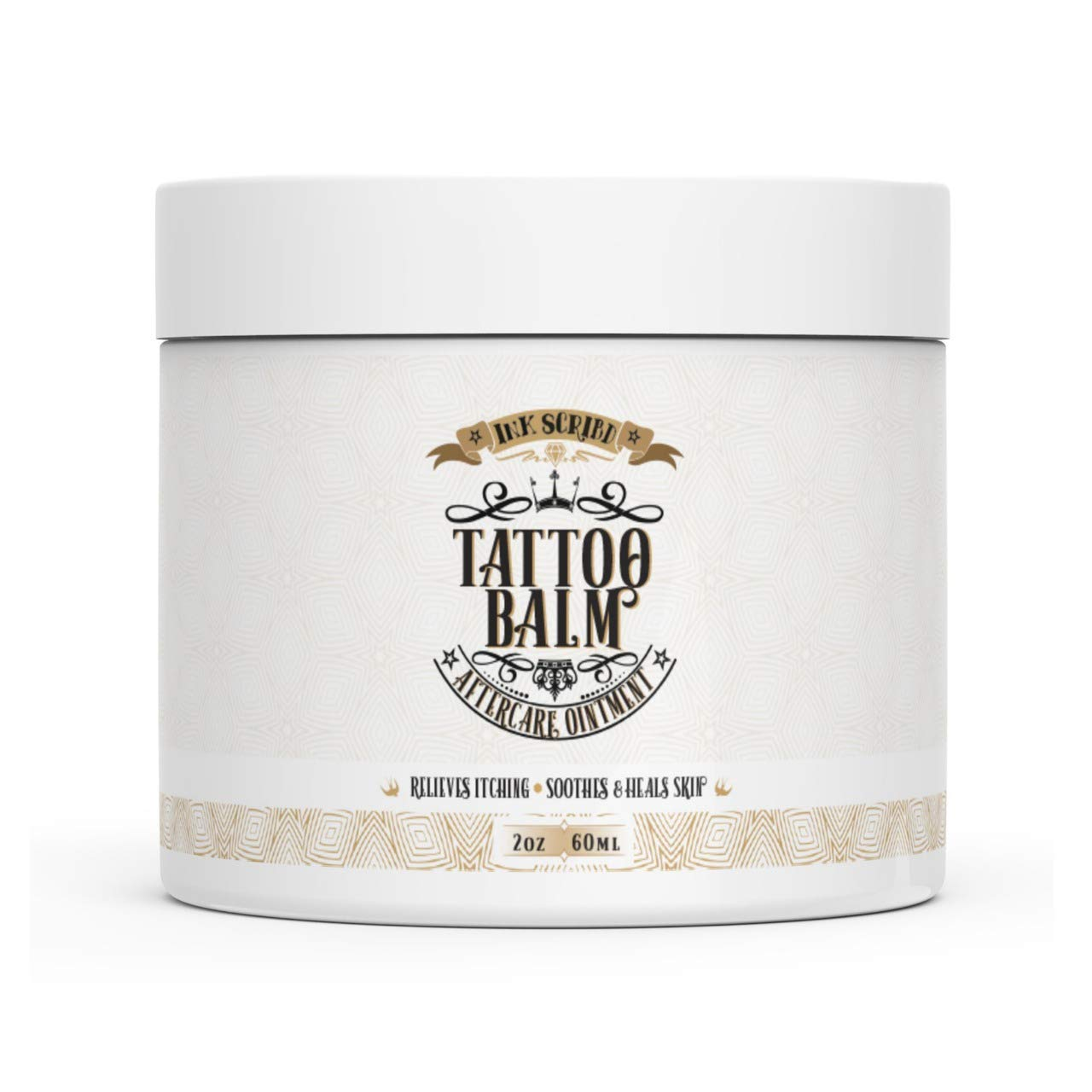 Premium Tattoo Aftercare Healing Balm - Ink Scribd - Relieves Itching, Soothes and Heals - All Natural with Anti-inflammatory Ingredients (2oz) by Bravado Labs