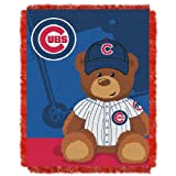 MLB Chicago Cubs Field Woven Jacquard Baby Throw Blanket, 36x46-Inch