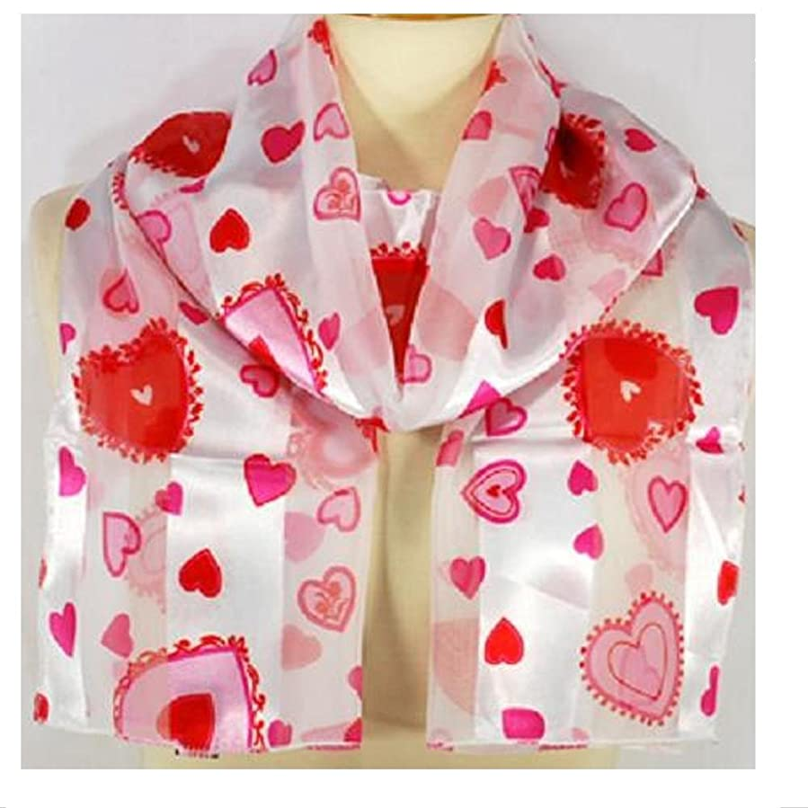 Scarf / Belt ~ Valentine ~ White with Red & Pink Hearts ~ 13\