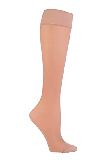 7fe8bc6a6a5 Image Unavailable. Image not available for. Color  1 pair sockshop 40  Denier knee high Flight and travel socks Natural ...