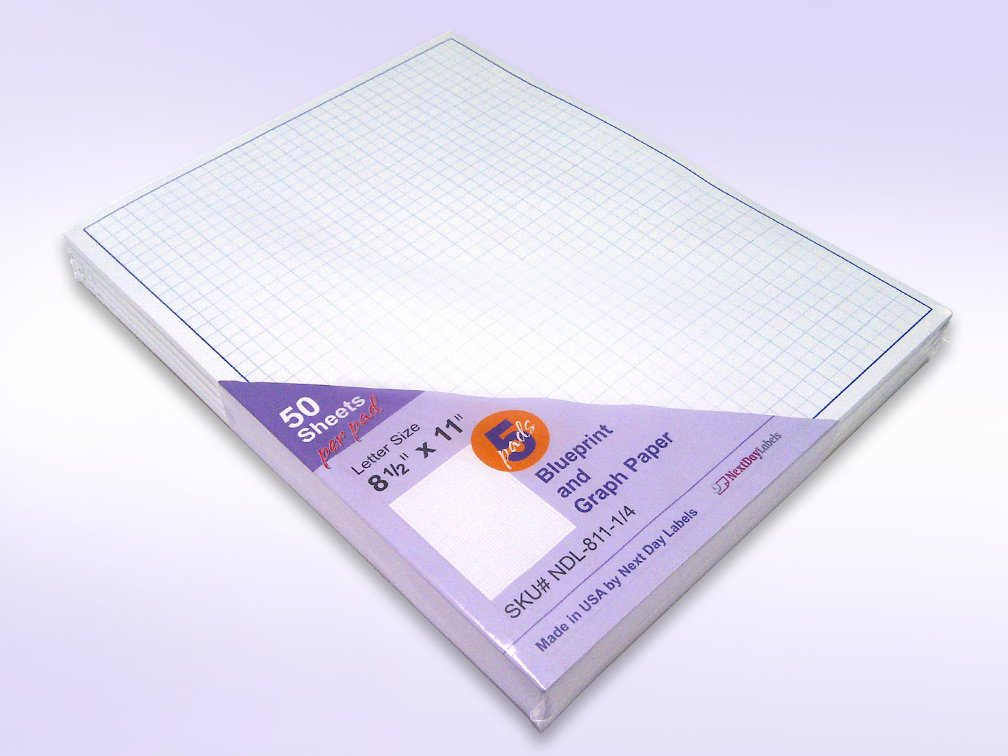 quadrille grid blueprint and graph paper 8 1 2 x 11 next day