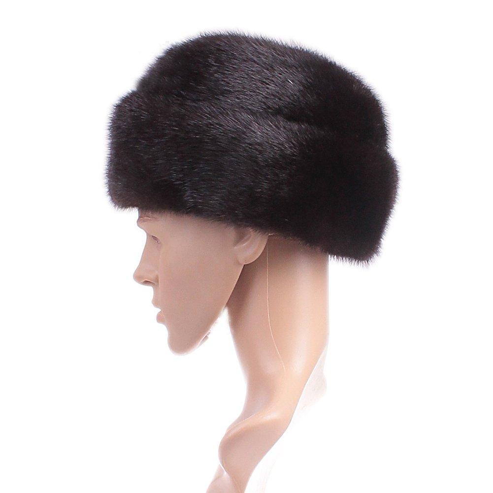 Dikoaina Men's Whole Set Mink Full Fur Russian Cossack Hat Large Black by Dikoaina (Image #2)