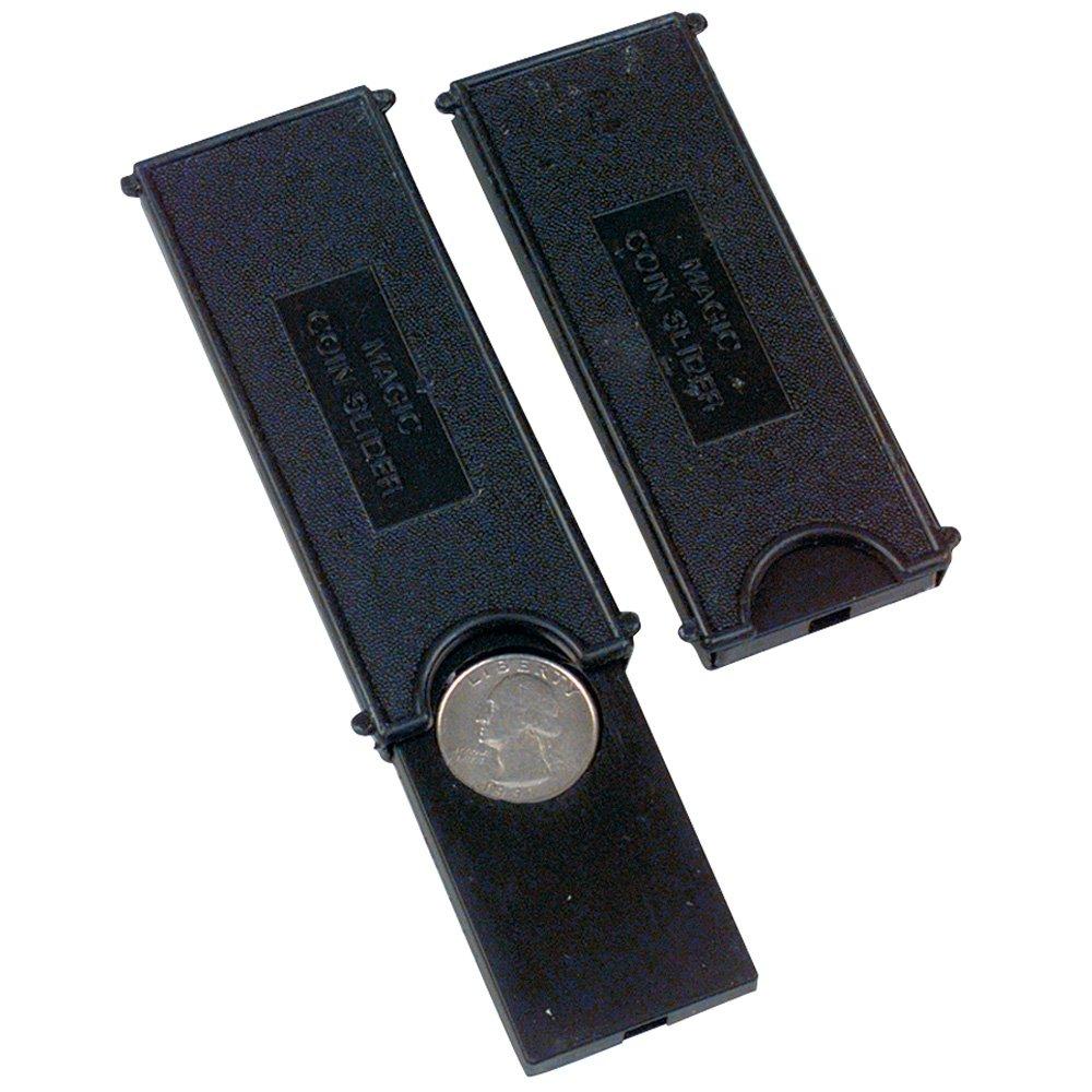 Magic Coin slide (Disparition d'une pièce - couleur : noir) Magie JKCOICA