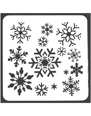 BIGBOBA Plantillas Molde de Navidad Plantilla de Plantilla de Diario Conjunto con Papá Noel, Copos
