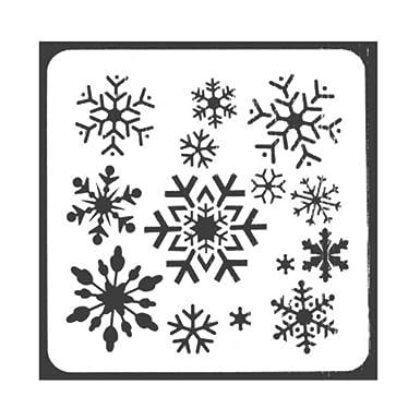 BIGBOBA Plantillas Molde de Navidad Plantilla de Plantilla de Diario Conjunto con Papá Noel, Copos de Nieve del árbol de Navidad Patrón de Renos de muñeco: ...