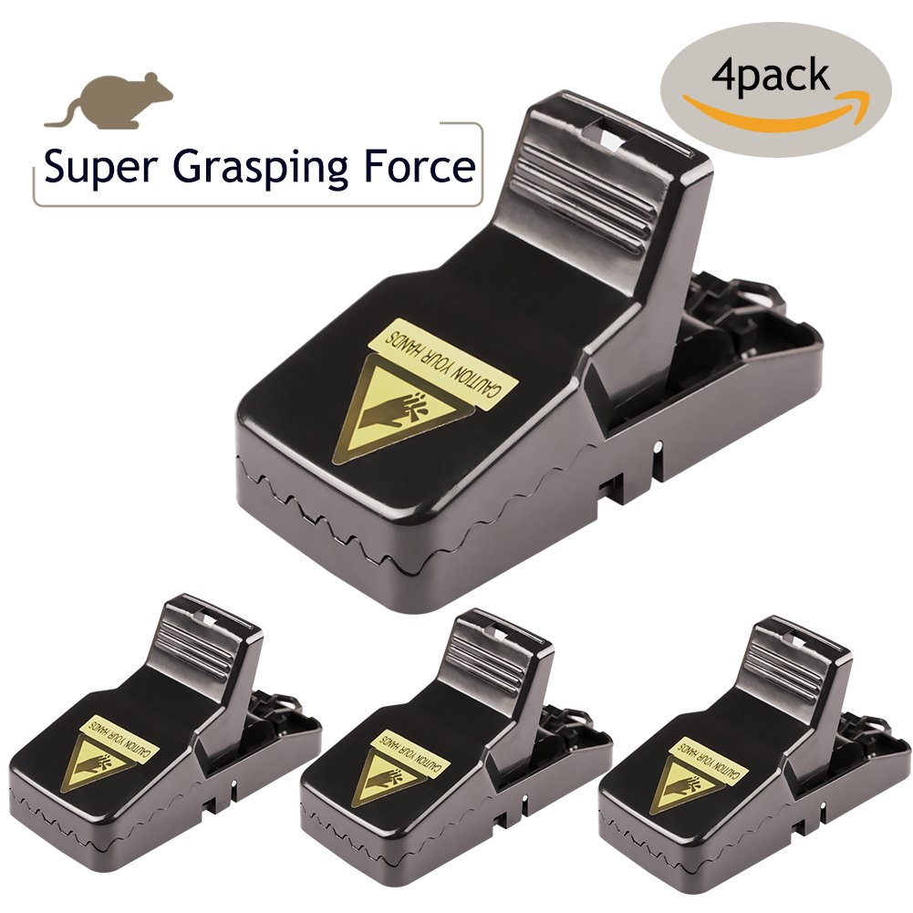 NABLUE Mouse Trap, The Mouse Catcher, Mice\Rat Trap Snap Humane Power Rodent Killer - Easy to Set Quick Kill Mice Catcher Device - [Safe & Sanitary] Families\Pets Protector - 4 PACK HYLBS