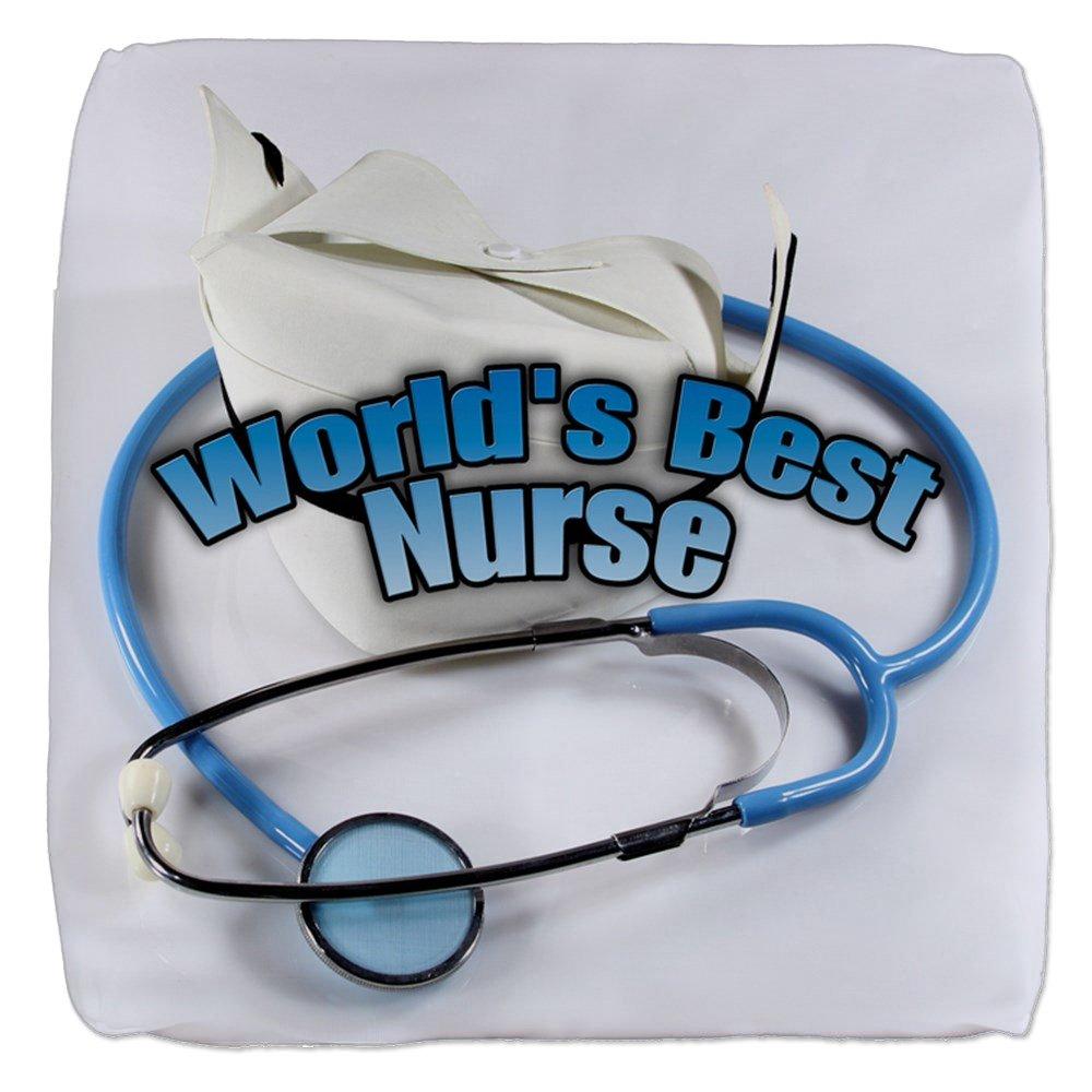 13 Inch 6-Sided Cube Ottoman World's Best Nurse