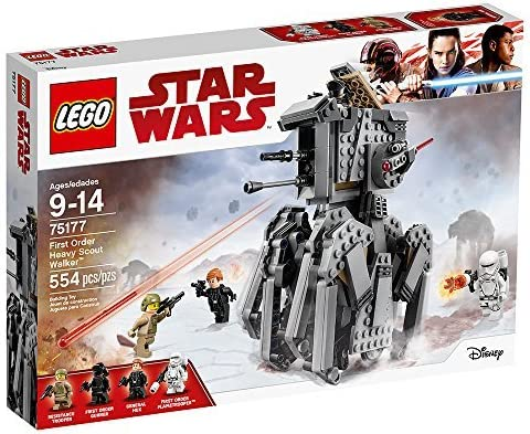 LEGO Star Wars Episode VIII First Order Heavy Scout Walker 75177 Building Kit (554 Piece)