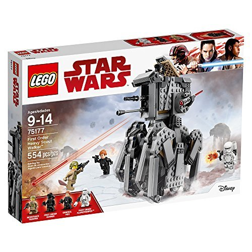 Lego Star Wars Episode Viii First Order Heavy Scout Walker 75177 Building Kit  554 Piece
