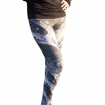 Amiley Fashion Women Sexy Skinny Fishes Print Stretchy Pants Tights Leggings