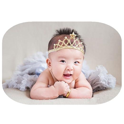 Vedory Baby Girls Crown Headbands Toddler Princess Headband Hair  Accessories Birthday Crown Hair Band-Gift dbb2ab10601