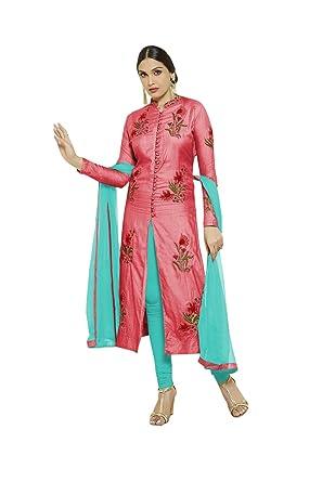 delisa Ready Made Designer Salwar Suit Bollywood Dress Indian AS-MS2-Pink (XS