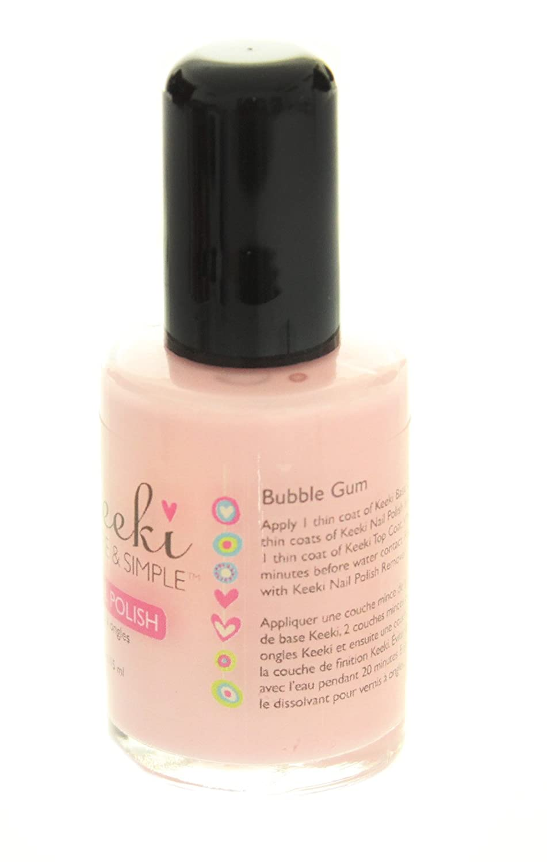 Amazon.com : Keeki Pure & Simple Nail Polish, Bubble Gum, .5 Fluid ...