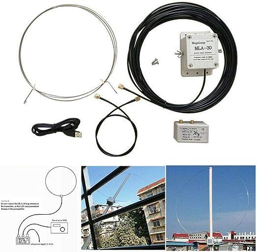 Calistouk Antena receptora Activa de Bucle de 100 kHz-30 ...