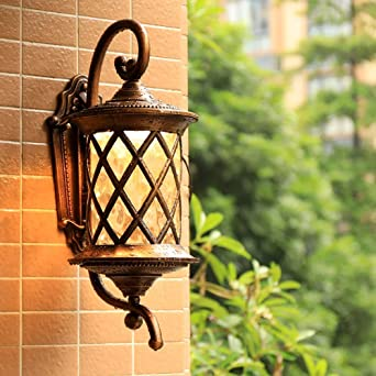Luces de pared modernas Iluminación interior Impermeable Pared exterior Villa Iluminación creativa Escalera Puerta Pasillo Balcón Luz de jardín al aire libre Lámpara de pared al aire libre (Tamaño: Pequeño): Amazon.es: Iluminación