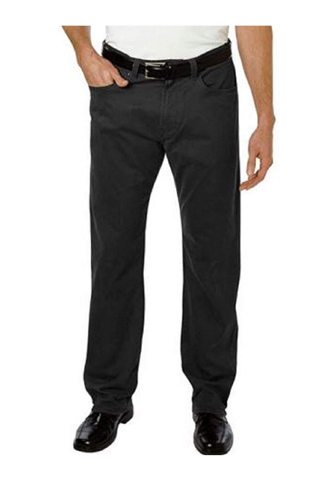 Kirkland Signature Mens Standard fit 5-Pocket Pants (Storm Grey, 36W x 30L)