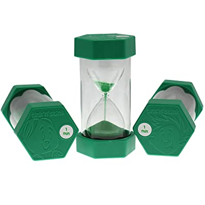 1 Minute Sand Timer Green 16 cm by tink n stink: Juguetes y juegos