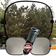 Best Best Car Window Sun Shades | Spring-Loaded Use With or Without Suction Cups | With Free Car Ionizer Deodorizer | Toss That Toxic Hanging Car Freshener Car Window Sun Shades | Spring-Loaded Use With or Without Suction Cups | With Free Car Ionizer Deodorizer | Toss The Toxic Hanging Car Freshener