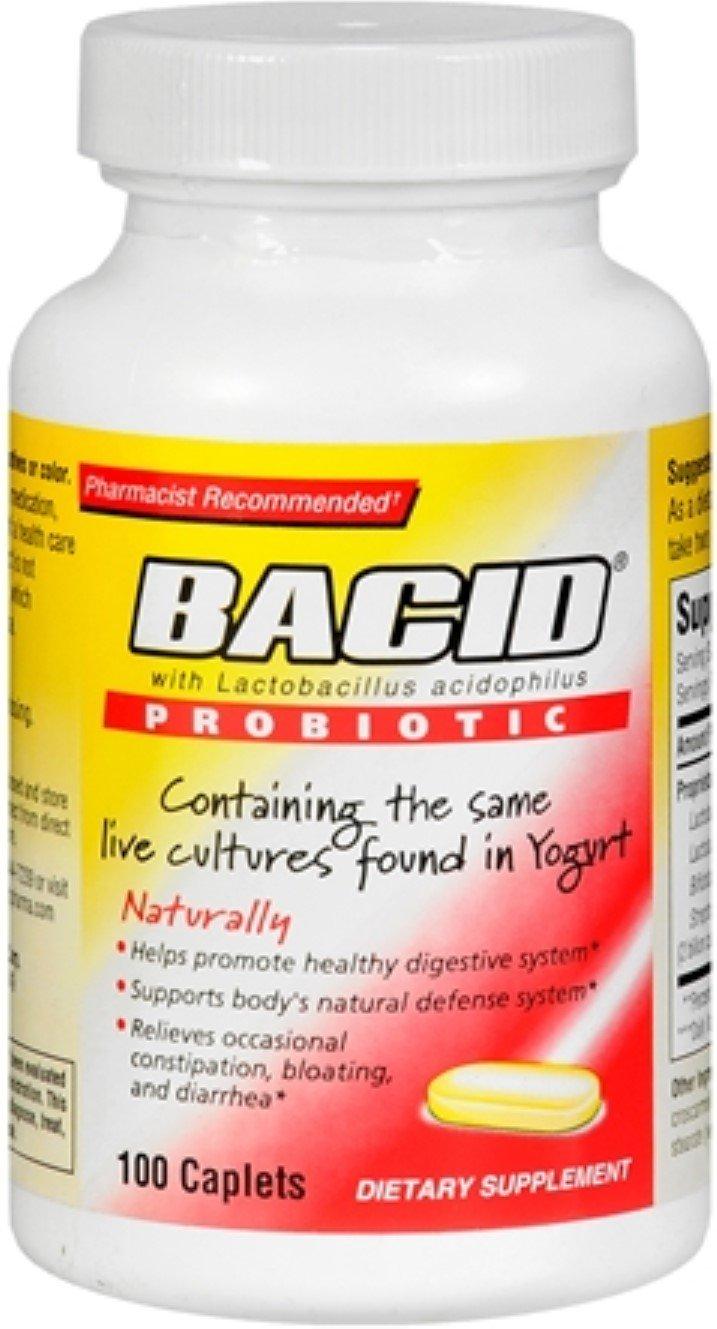 Bacid Probiotic Caplets 100 Caplets (Pack of 4)