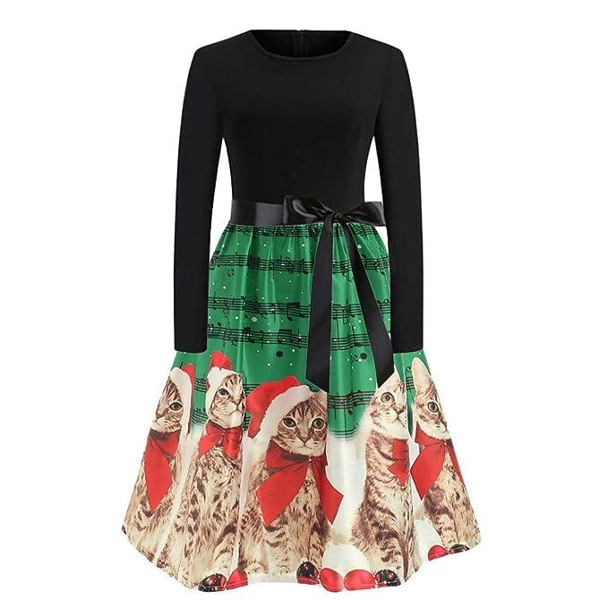 7fd1c14269c9 friendGG ❤ ❤ Weihnachten Kleider,Damen Rockabilly Kleid Elegante ...