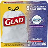Best Glad Grocery Bags - Glad OdorShield Tall Kitchen Drawstring Trash Bags, Lavender Review
