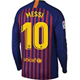 27df7f258febb Nike Barcelona Home L/S Messi 10 Jersey 2018/2019 (Official Printing)
