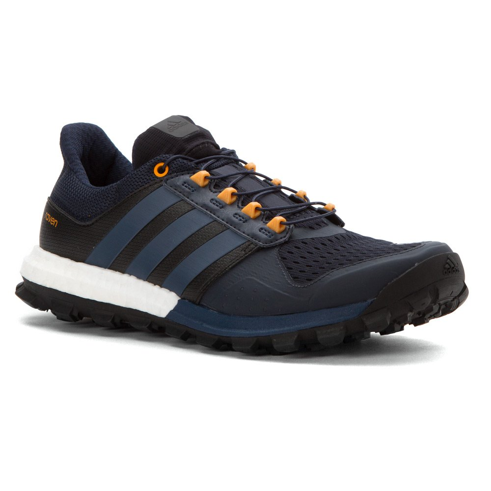 complejidad caligrafía Tener un picnic  Adidas Adistar Raven Boost Shoe - Men's Night Navy / Mineral Blue / Eqt  Orange 9.5 D(M) US: Amazon.in: Sports, Fitness & Outdoors