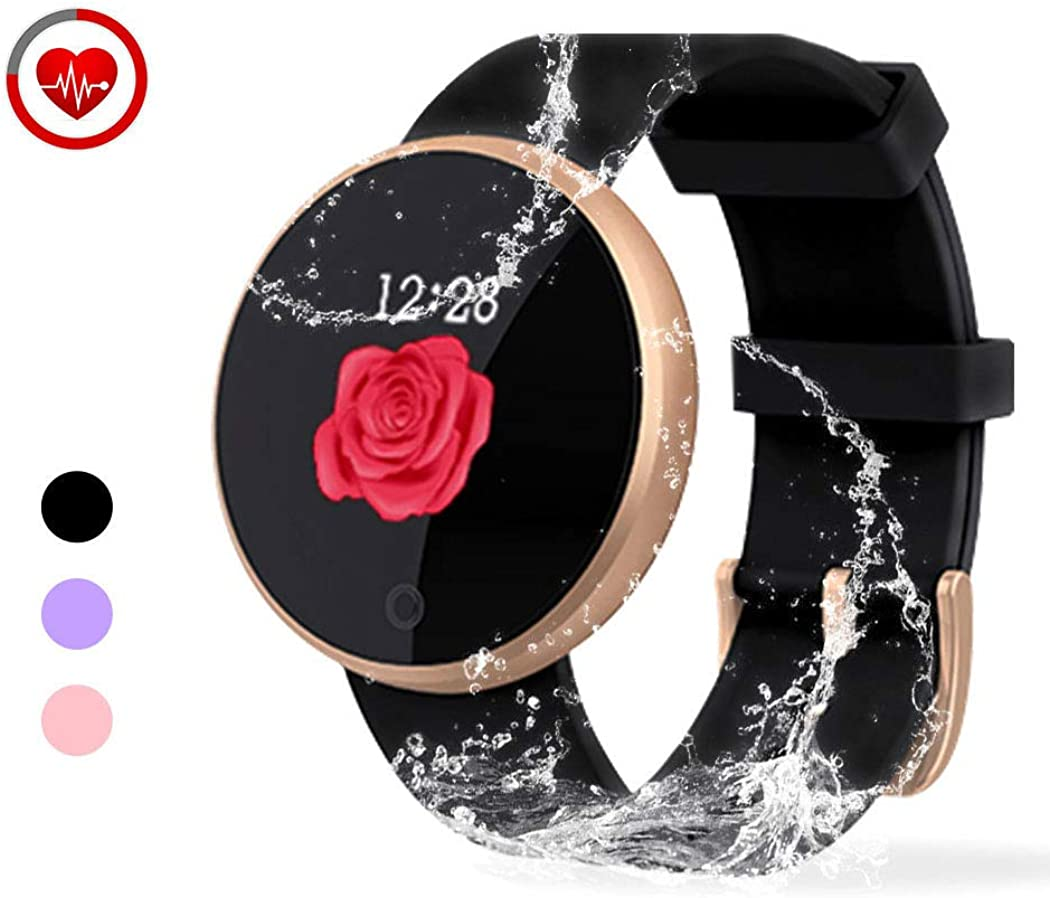 YONKFUL Fitness Activity Tracker Smartwatch with Heart Rate Monitor IP68 Waterproof Pedometer with Step Counter Touchscreen Calorie Counter Sleep Monitor for Women Kids Men
