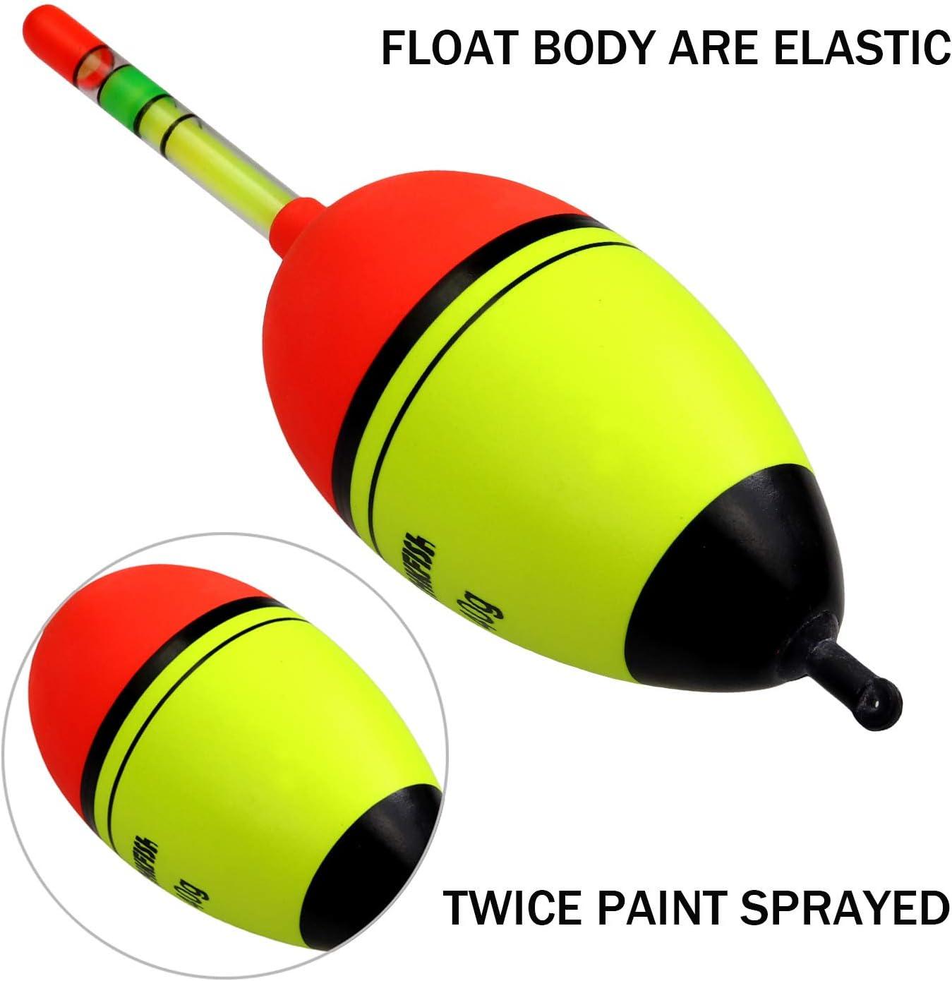 5g 15g 30g 40g Espuma de agua dulce de pesca de agua salada Bobber Slip Tube Kit 5Pcs Pack THKFISH/® Fishing Floats