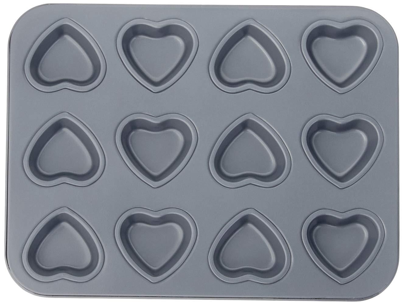 Fox Run 4493 Mini Heart Muffin Pan, 12-Cup, Preferred Non-Stick