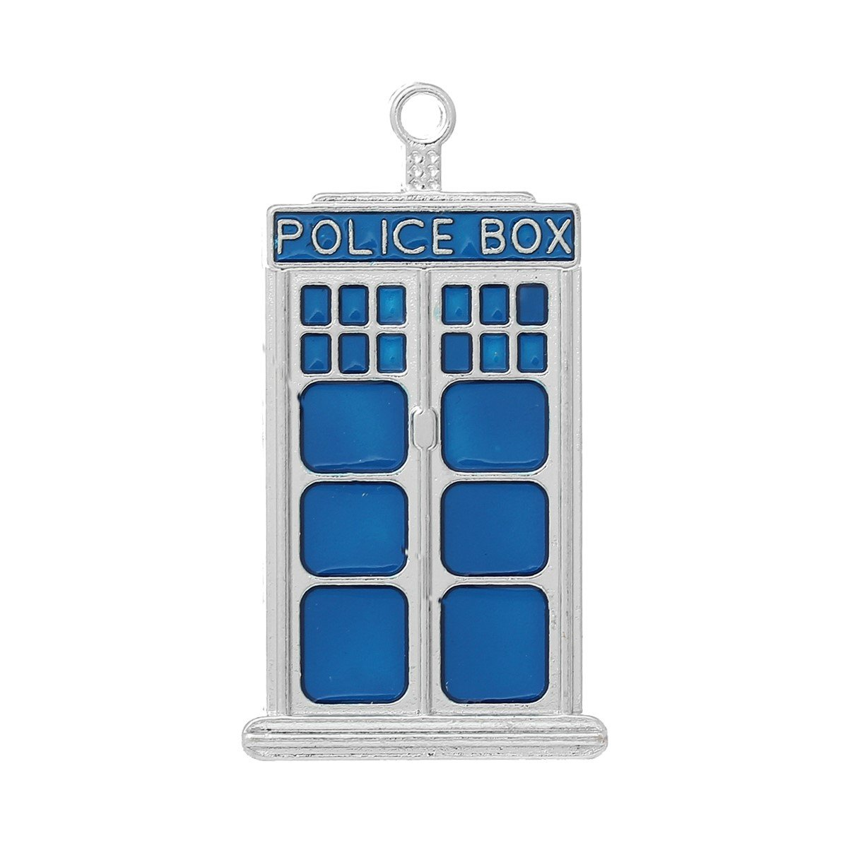 2 x Tibetan Silver & Blue Enamel TARDIS DR WHO POLICE BOX SCI-FI 50mm Charms Pendants Beads Pink Cat Charms