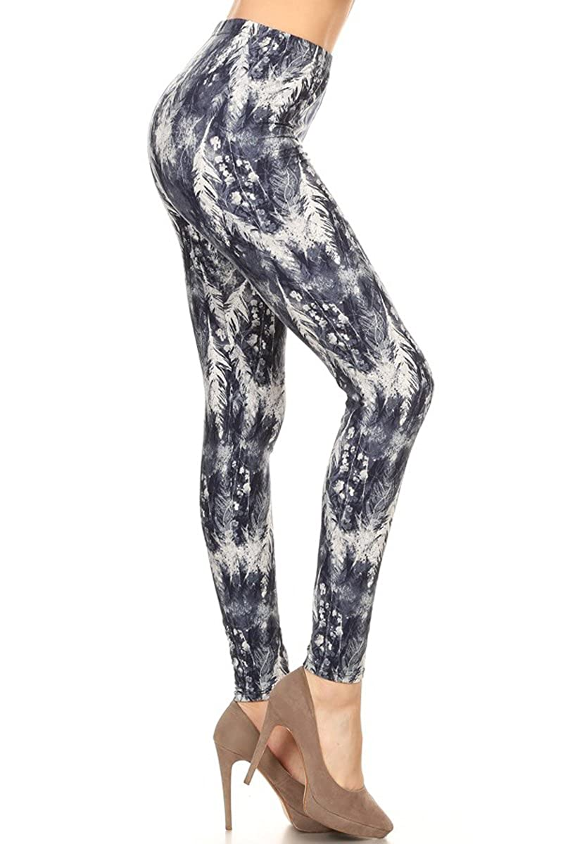 Leggings Depot Women's Ultra Soft Printed Fashion Leggings BAT17