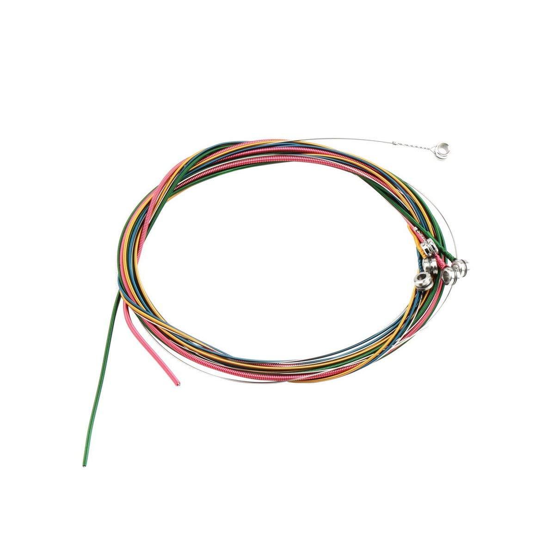 Colore multiplo 1-6 E B G D A E Set di corde per chitarra in lega di rame color arcobaleno per attrezzatura per chitarra acustica Harlls