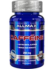 ALLMAX Nutrition - Caffeine - 100% Pure - Easy-To-Cut-in-Half - Tablet - 100 count