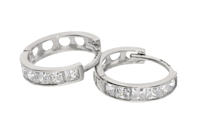 H Gaventa Ltd E Pendientes de mujer de oro blanco k con