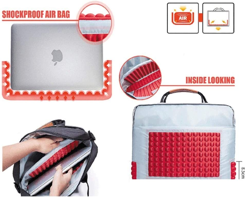 Color : Red, Size : 15.6-inch ZYDP Briefcase Bag Laptop Bag 13.3 15.6 17.3 Inch Waterproof Notebook Bag for MacBook Air Pro 13 15 Computer Shoulder Handbag