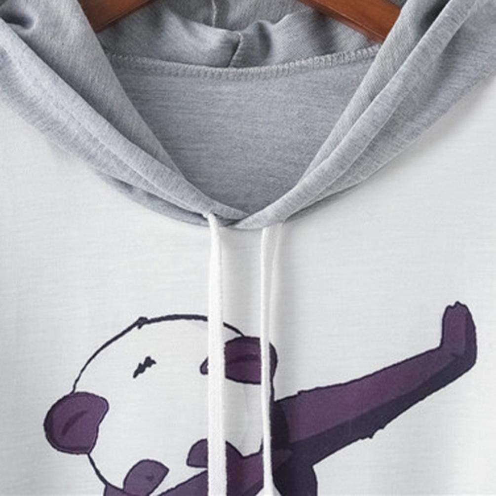 Big Teresamoon Womens Long Sleeve Panda Print Drawstring Hoodie Raglan Sweatshirt at Amazon Womens Clothing store: