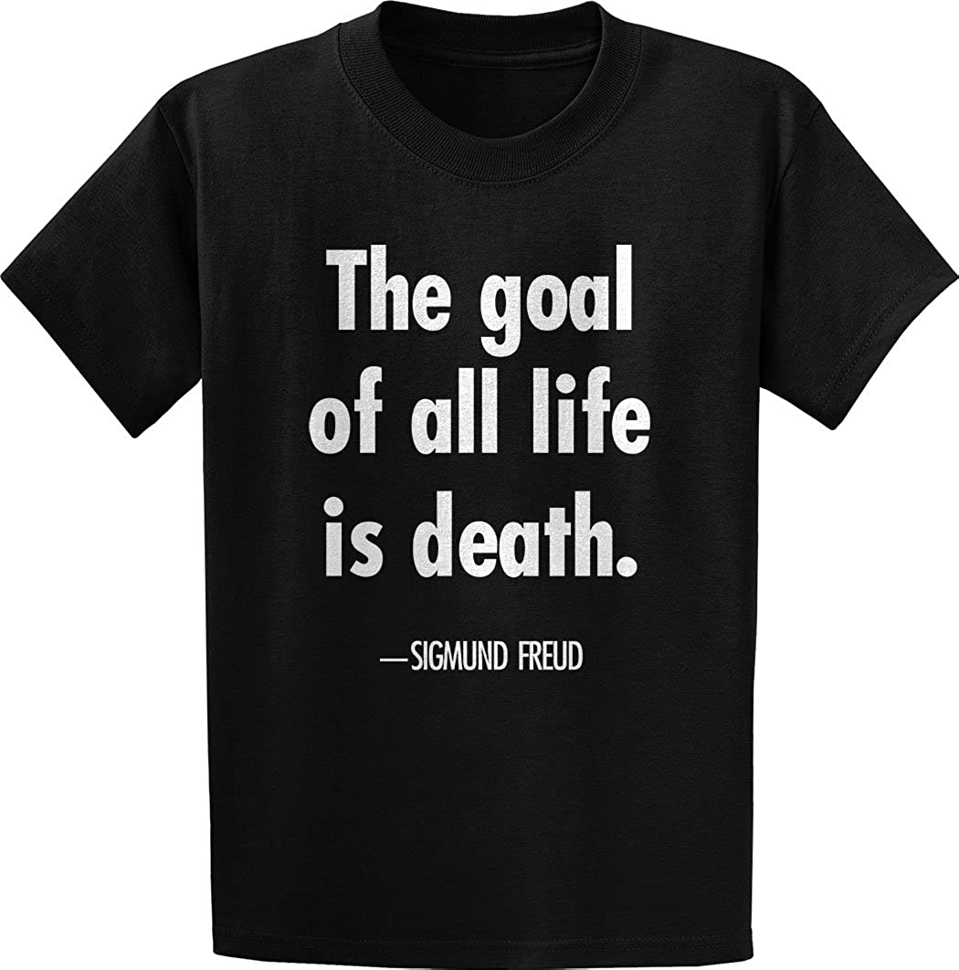 Amazoncom Sigmund Freud The Goal Of Quote T Shirt Clothing