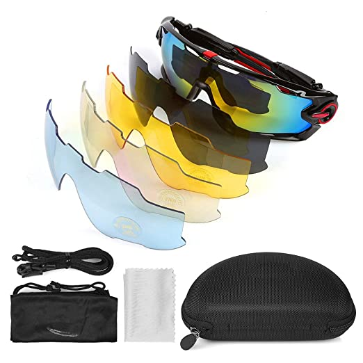 68 opinioni per LeaningTech Bike Occhiali da sole polarizzati occhiali da sport 5 lenti