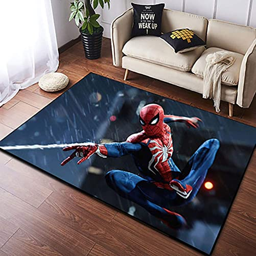 Area Rugs 3D Digital Print Superhero Graphic Carpet Living Room Bedroom Sofa Mat Door Mat Kitchen Bathroom Mat Carpet Bath Mat