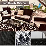 Patio Furniture Set 4 Piece Outdoor Wicker Sofas