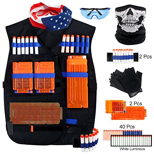 Elite Tactical Vest Kits for Nerf N-Strike Elite Series Great Kids Shooting Vest for Kids Blaster Game Play