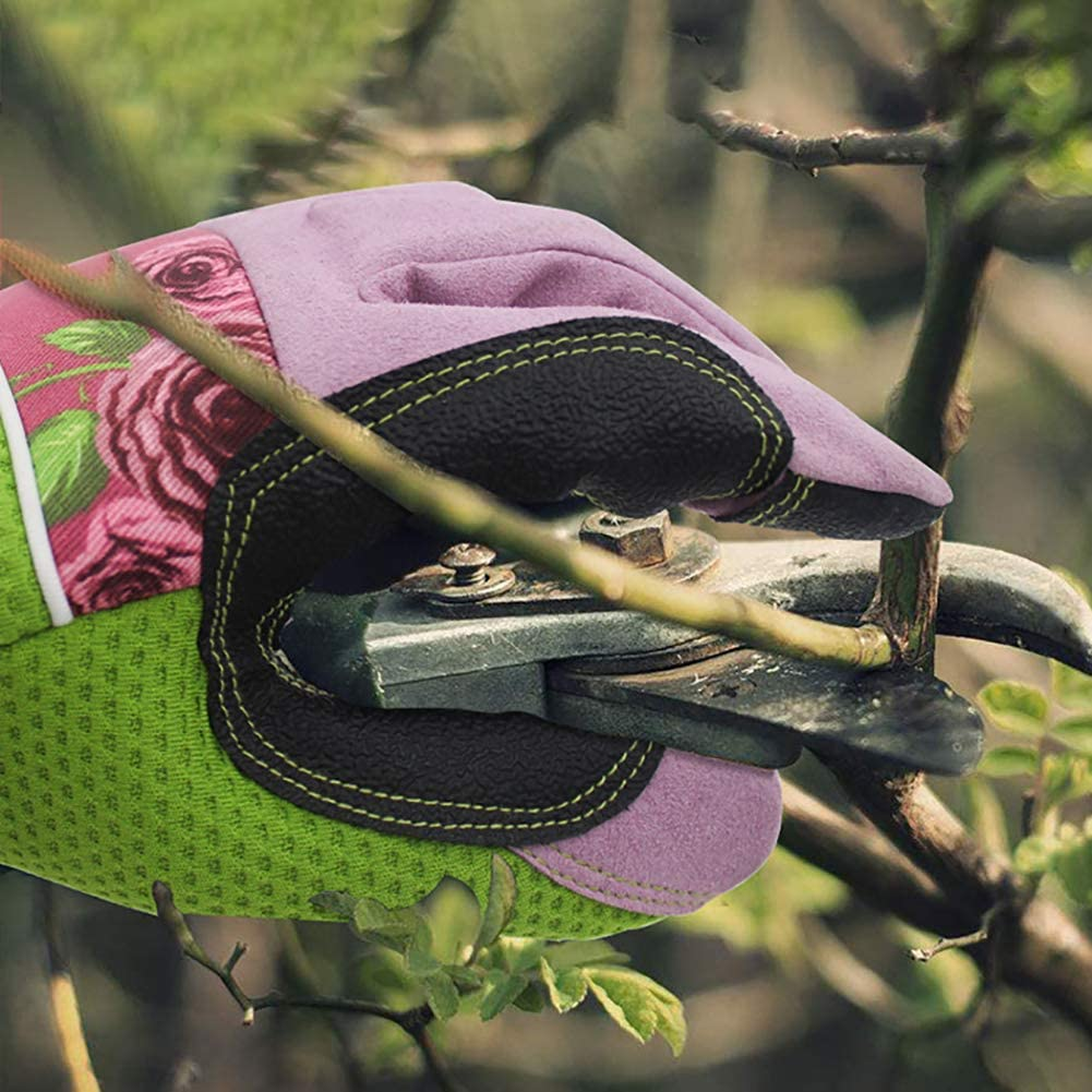 JYCRA Ladies Gardening Gloves,1Pair Professional Rose Pruning Thornproof Work Gloves for Garden and Household Tasks Best Gardening Gift for Women