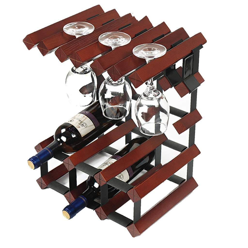 A LBYMYB Wine Rack Solid Wood Wine Rack Decoration Creative Wine Cabinet Wine Rack (color   A)