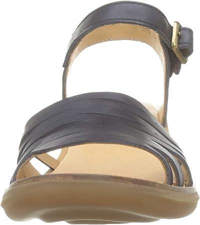 El Naturalista N5352 Vaquetilla Black/Aqua, Zapatos de tacón con Punta Cerrada para Mujer