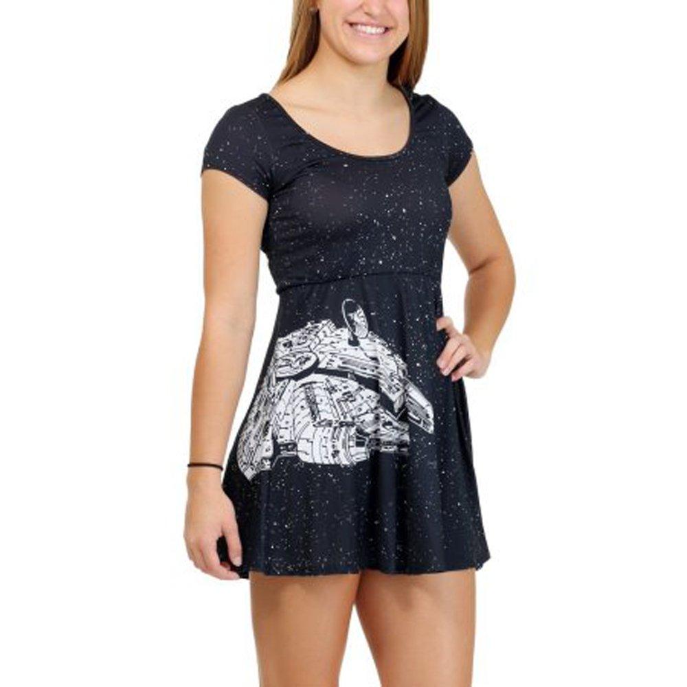 Star Wars Millennium Falcon Womens Skater Dress- Medium