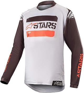 Alpinestars 2019 Youth Racer Tactical MX Jersey Black Grey Red Flou ... d9bd6c05e