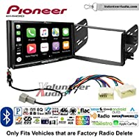 Volunteer Audio Pioneer AVH-W4400NEX Double Din Radio Install Kit with Wireless Apple CarPlay, Android Auto, Bluetooth Fits 2012-2013 Hyundai Accent (Radio Delete Models)