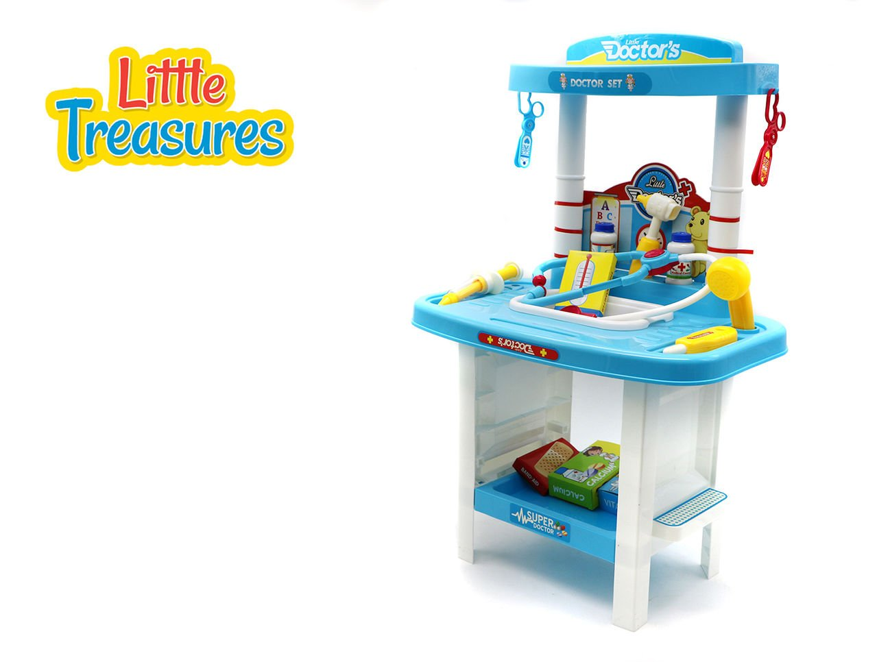 Little Doctors Set 24+ Pieces with Comprehensive Set of Dr Play Medical Equipment and Accessories